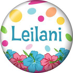 Pink Luau Fun Personalized Mini Magnet (Each)