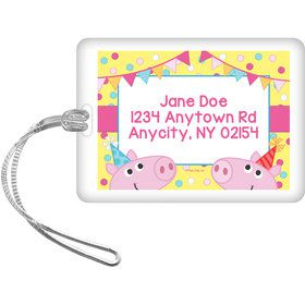 Pink Peppy Pig Personalized Bag Tag (Each)