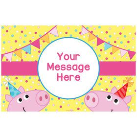Pink Peppy Pig Personalized Placemat (Each)