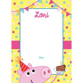 Pink Peppy Pig Personalized Thank You (Each)