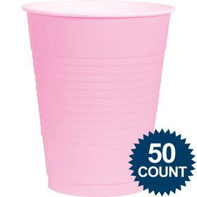 Pink Plastic 16Oz. Cup (50 Pack)