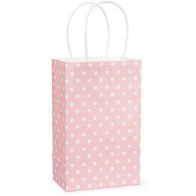 Pink Polka Dot Favor Bag