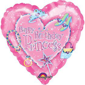 "Pink Princess 18"" Balloon (Each)"