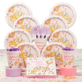 Pink Princess Deluxe Tableware Kit (Serves 8)