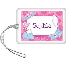 Pink Princess Party Personalized Bag Tag (each)