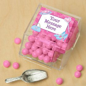 Pink Princess Party Personalized Candy Bin with Candy Scoop (10 Count)