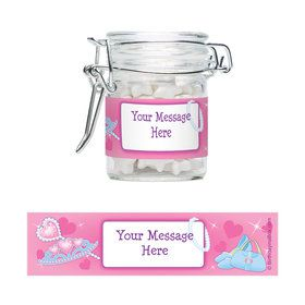 Pink Princess Party Personalized Glass Apothecary Jars (10 Count)