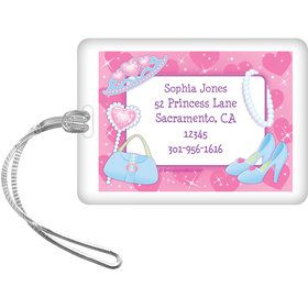 Pink Princess Party Personalized Luggage Tag (each)
