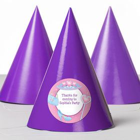 Pink Princess Party Personalized Party Hats (8 Count)