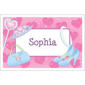 Pink Princess Party Personalized Placemat (each)