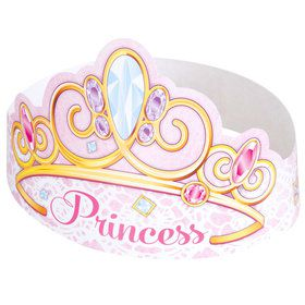 Pink Princess Party Tiaras (6 Count)