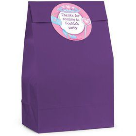 Pink Princess Personalized Favor Bag (Set Of 12)