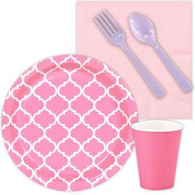 Pink Quadtrefoil Party Snack Party Pack