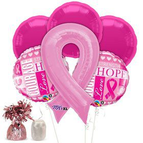 Pink Ribbon Balloon Kit (Each)