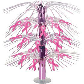 "Pink Ribbon Cascade 18"" Centerpiece (Each)"
