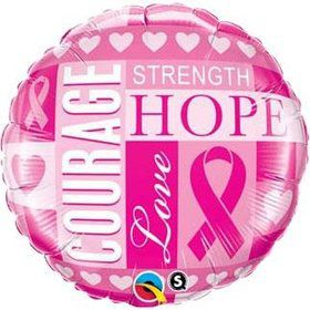 "Pink Ribbon Inspiration 18"" Balloon (Each)"
