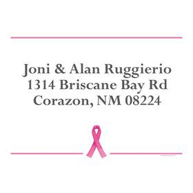 Pink Ribbon Personalized Address Labels (Sheet Of 15)