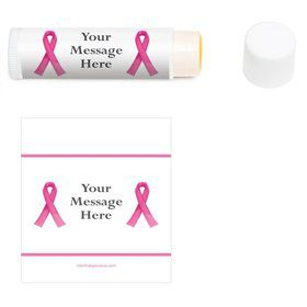 Pink Ribbon Personalized Lip Balm (12 Pack)