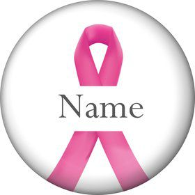 Pink Ribbon Personalized Mini Magnet (Each)