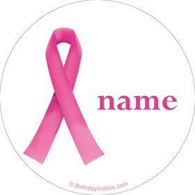 Pink Ribbon Personalized Mini Stickers (Sheet of 20)