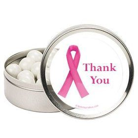 Pink Ribbon Personalized Mint Tins (12 Pack)