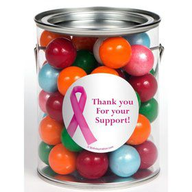 Pink Ribbon Personalized Paint Cans (6 Pack)