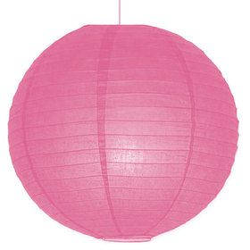 "Pink Solid Color 10"" Paper Lantern Decorations (Each)"