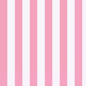 Pink Stripe Lunch Napkins