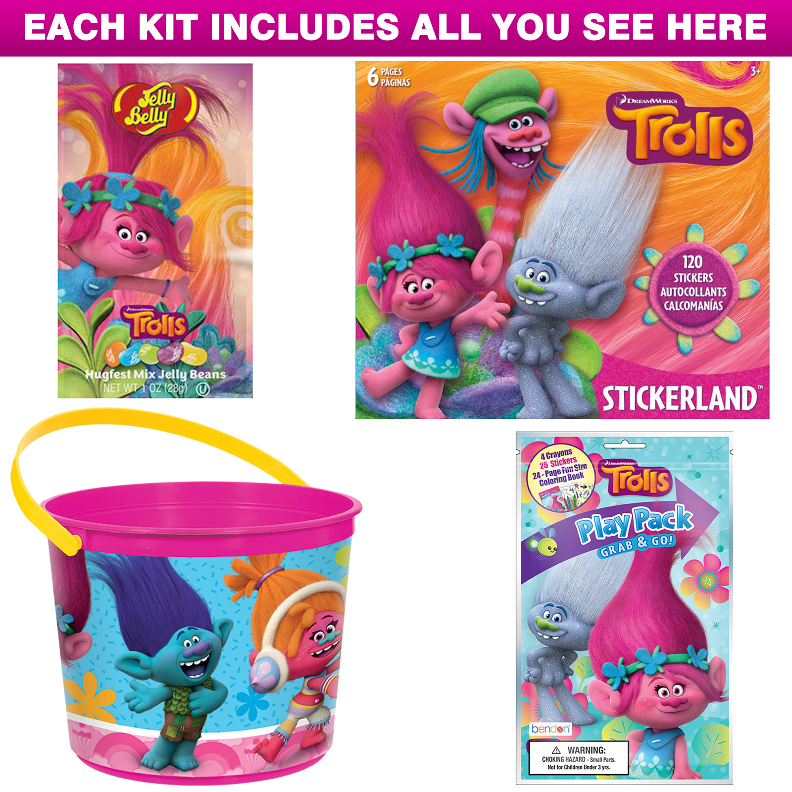 Trolls Favor Kit (For 1 Guest) BB018646