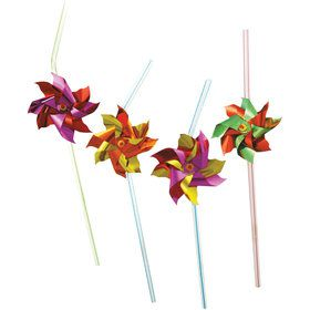 Pinwheel Party Straws