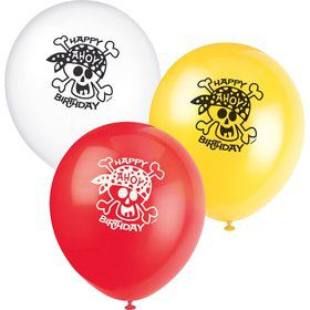 Pirate Birthday Latex Balloons (8-pack)