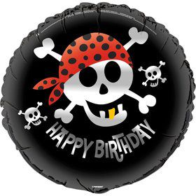 "Pirate Birthday 18"" Foil Balloon (Each)"