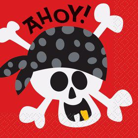 Pirate Birthday Beverage Napkins (16-pack)