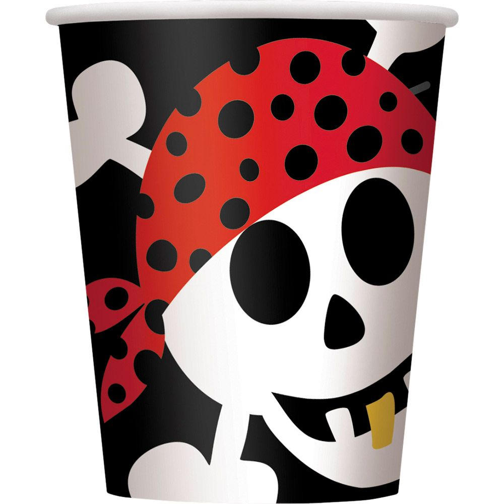 Pirate Birthday Cups (8-Pack) BB100468