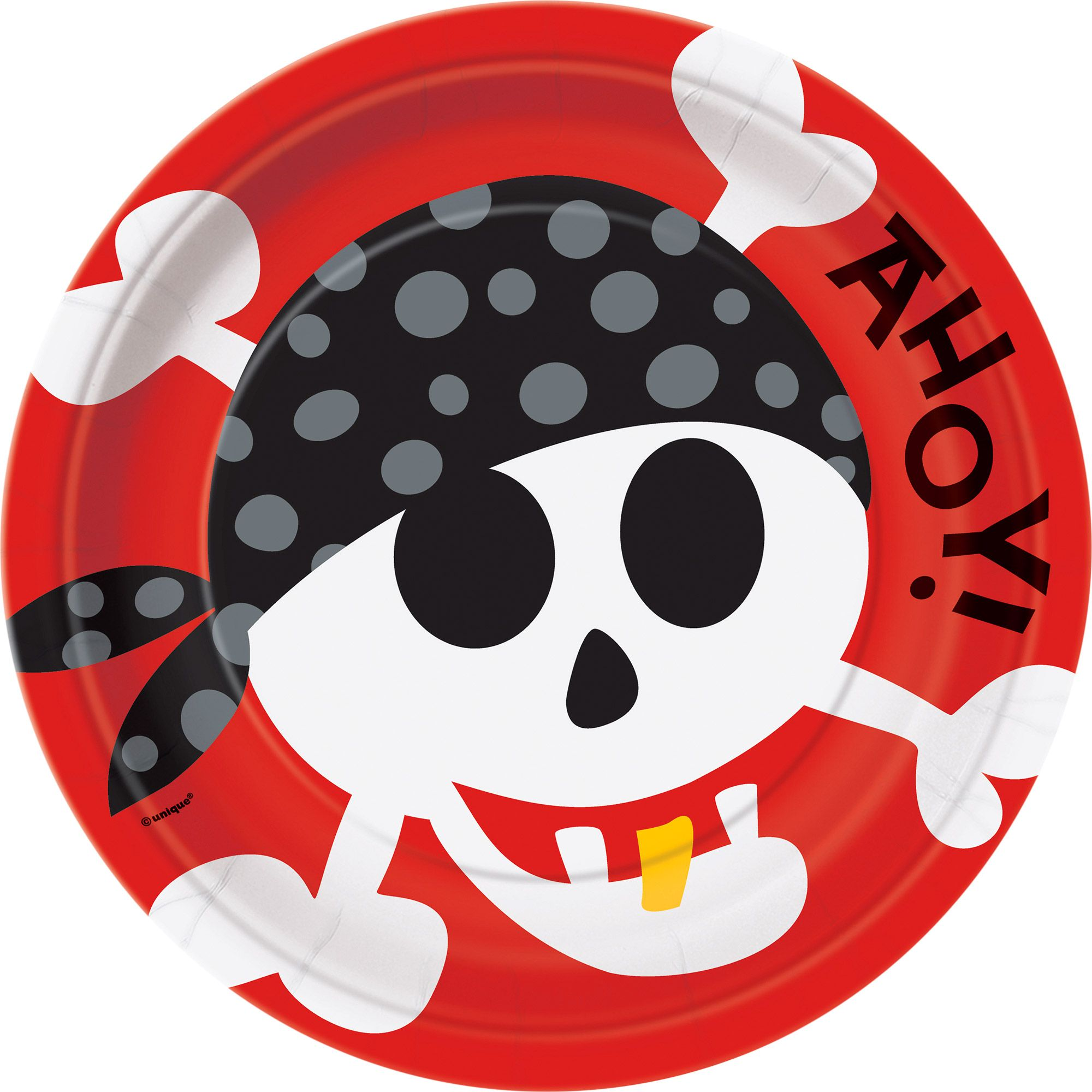Pirate Birthday Dinner Plate 8ct Birthday Party Supplies Plates BB100467