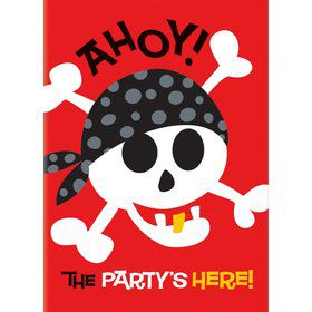 Pirate Birthday Invitations (8-pack)