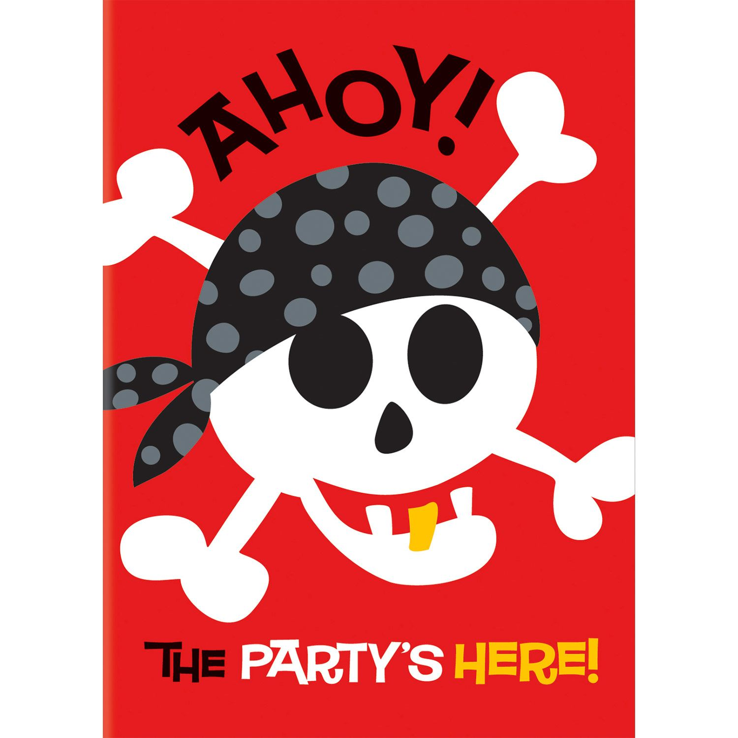 Pirate Birthday Invitations (8-Pack) - Party Supplies BB100472