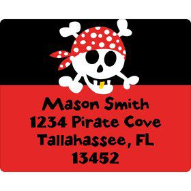 Pirate Birthday Personalized Address Labels (sheet of 15)