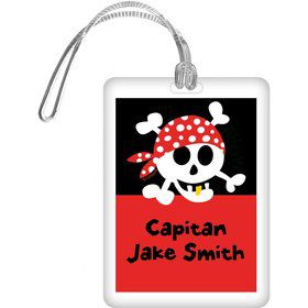 Pirate Birthday Personalized Bag Tag (each)