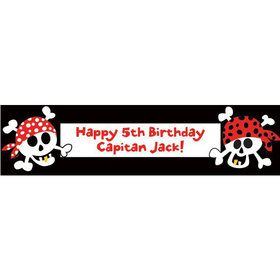 Pirate Birthday Personalized Banner (each)