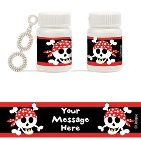Pirate Birthday Personalized Bubbles (18 Pack)