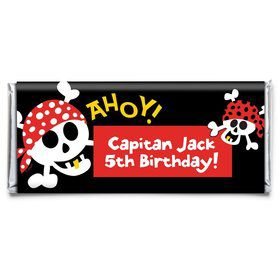 Pirate Birthday Personalized Candy Bar Wrapper (Each)