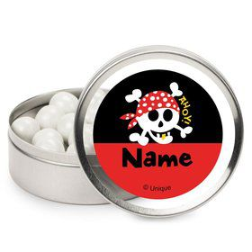 Pirate Birthday Personalized Candy Tins (12 Pack)