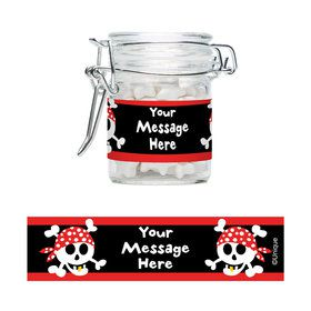 Pirate Birthday Personalized Glass Apothecary Jars (10 Count)