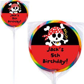 Pirate Birthday Personalized Lollipop (PACK OF 12)