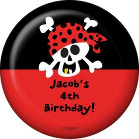 Pirate Birthday Personalized Magnet (each)