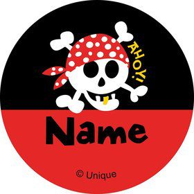 Pirate Birthday Personalized Mini Stickers (Sheet of 20)