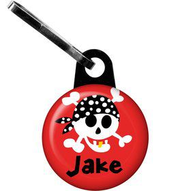 Pirate Birthday Personalized Zipper Pull (each)