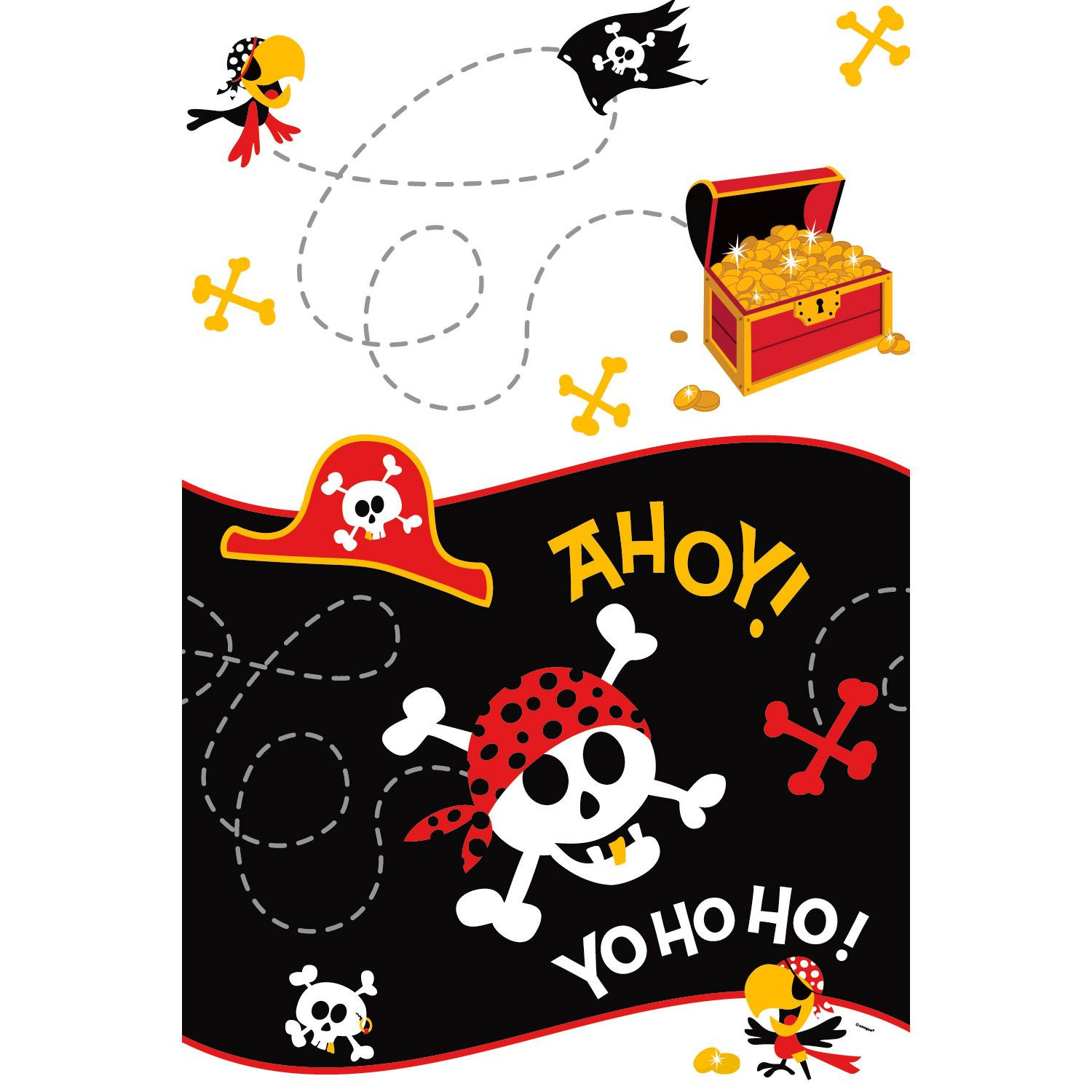 Pirate Birthday Tablecover (Each) BB100465