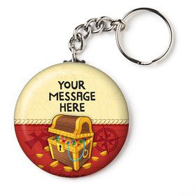 """Pirate Friends Personalized 2.25"""" Key Chain (Each)"""